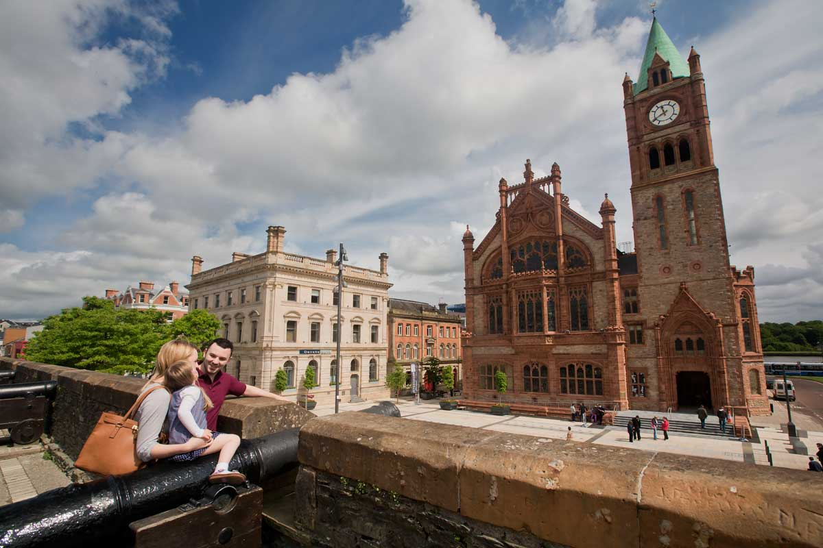 Derry Walls and Guildhall | Irish History, Seige of Derry | visit Derry/Londonderry during your stay at Laurel Villa Guest House, Magherafelt
