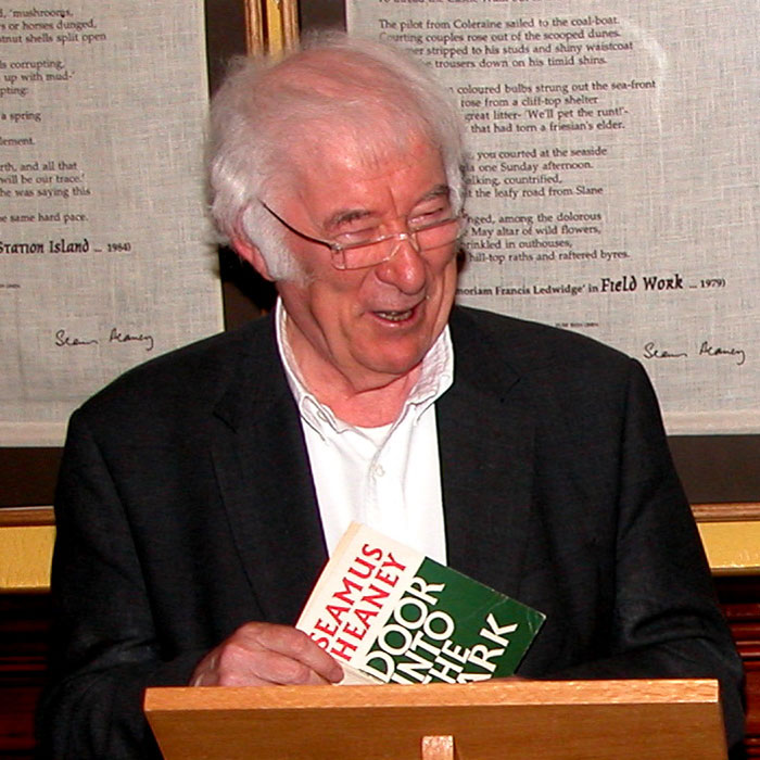 Poet Seamus Heaney gave a reading of his poetry at Laurel Villa Guest House in Magherafelt | the ideal bed and breakfast accommodation for those who appreciate Irish poetry and literature