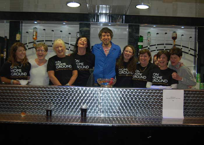 Gary Lightbody of Snow Patrol visits Laurel Villa for the Seamus Heaney 'On Home Ground' festival