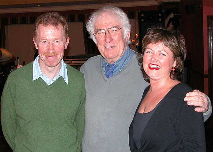 Poet Seamus Heaney with Eugene and Gerardine Kielt of Laurel Villa Guest House | Seamus Heaney gave a reading of his poetry at Laurel Villa