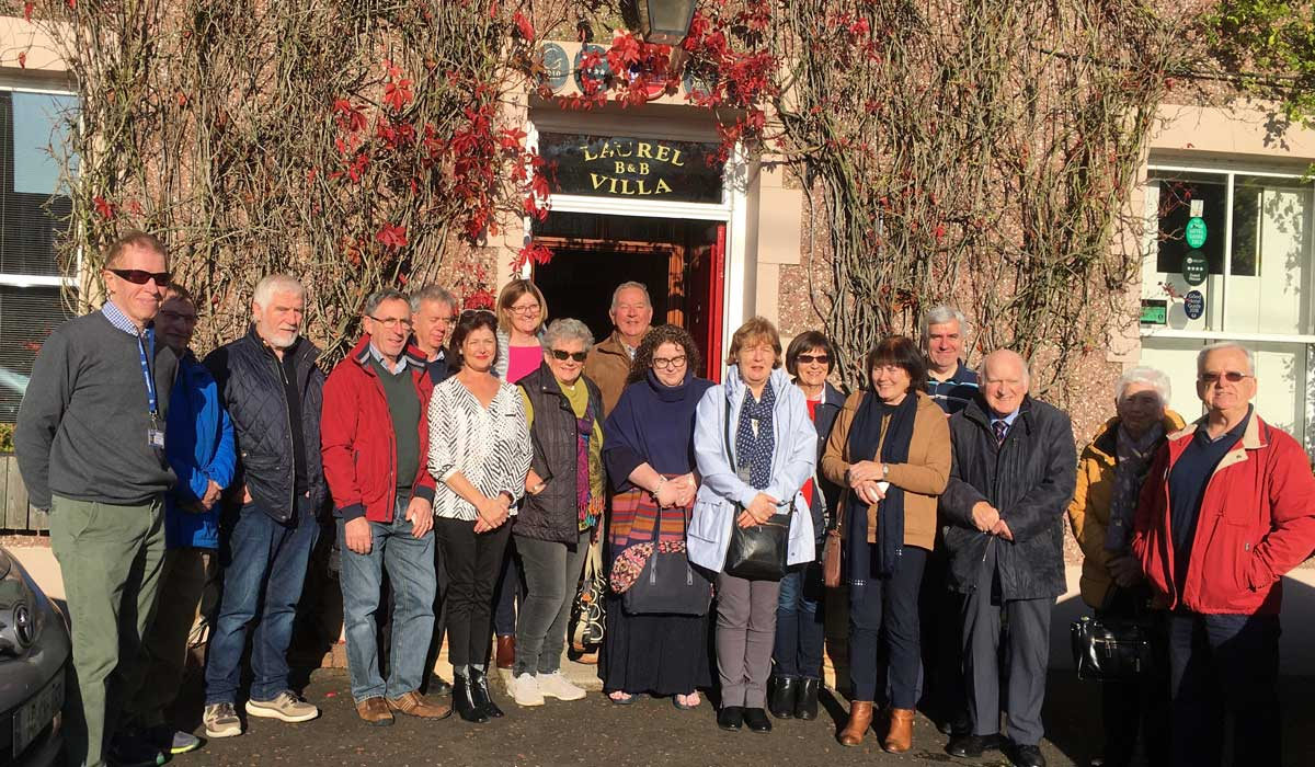 A Tour Group with local guide Eugene Kielt, a Seamus Heaney enthusiast and experienced guide, offering tours from Laurel Villa Guest House in Magherafelt | TNI 5 Star Tour rating