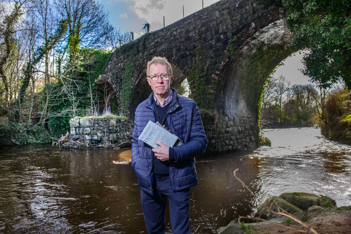 Eugene Kielt, Laurel Villa - standing at a bridge as part of his Seamus Heaney Tour